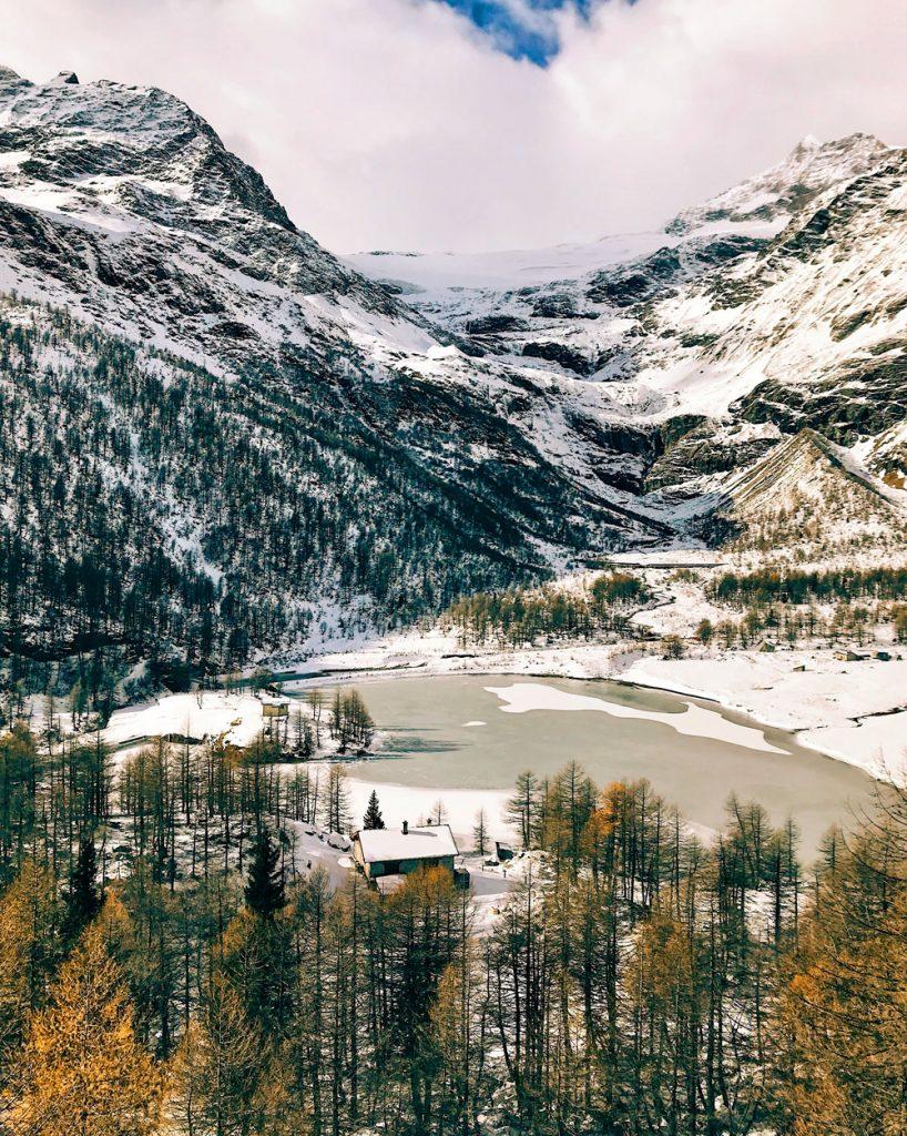 Vista dal Trenino Rosso del Bernina