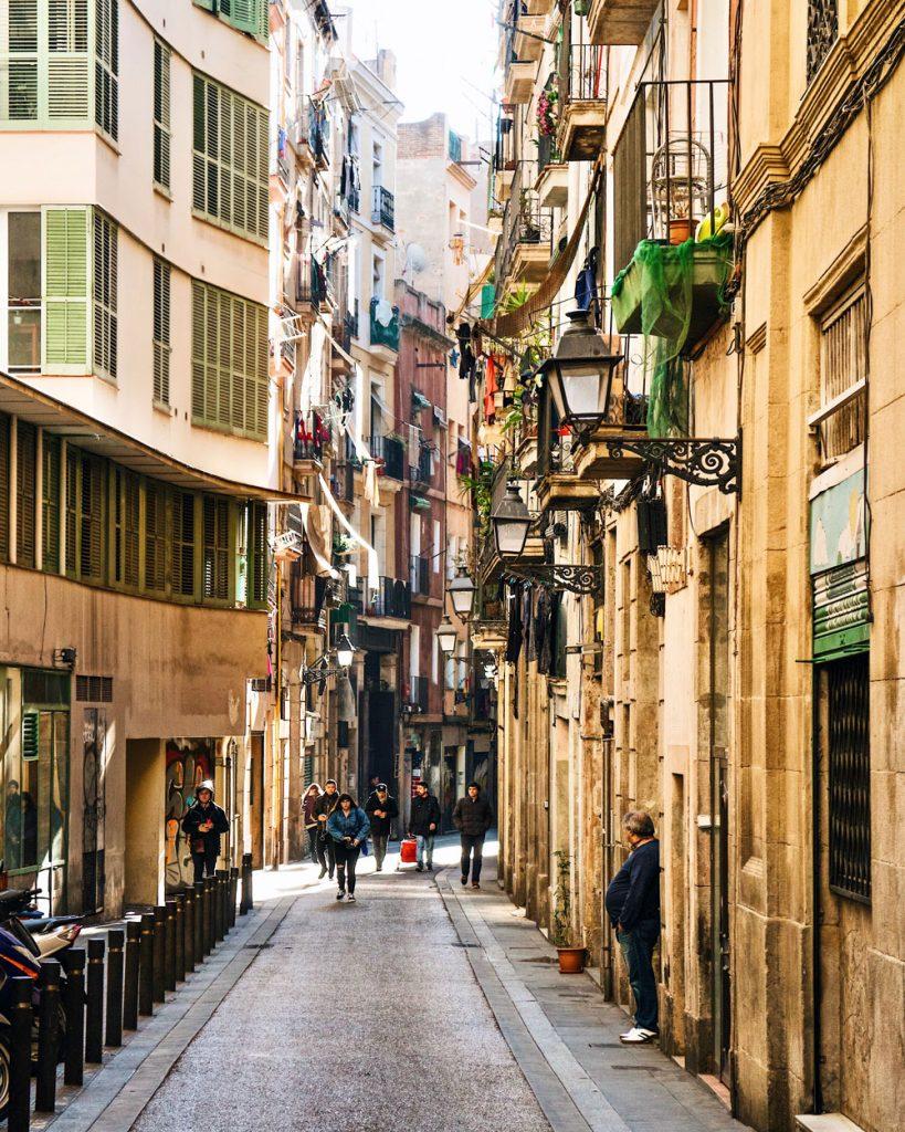 Quartiere El Raval Barcellona