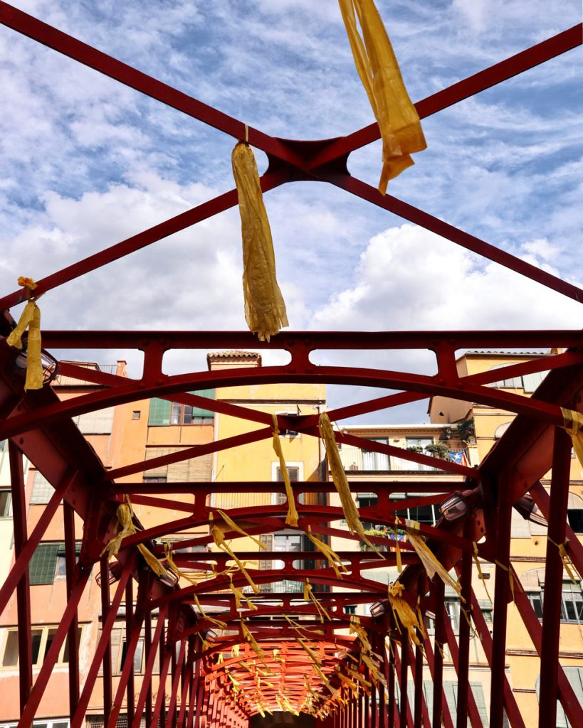 Girona cosa vedere Ponte Rosso di acciaio Eiffel
