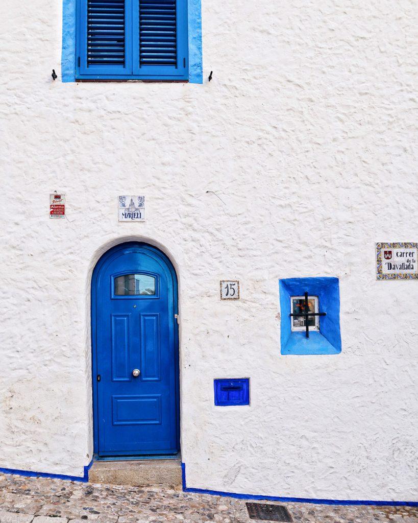 Casette blu in Sitges