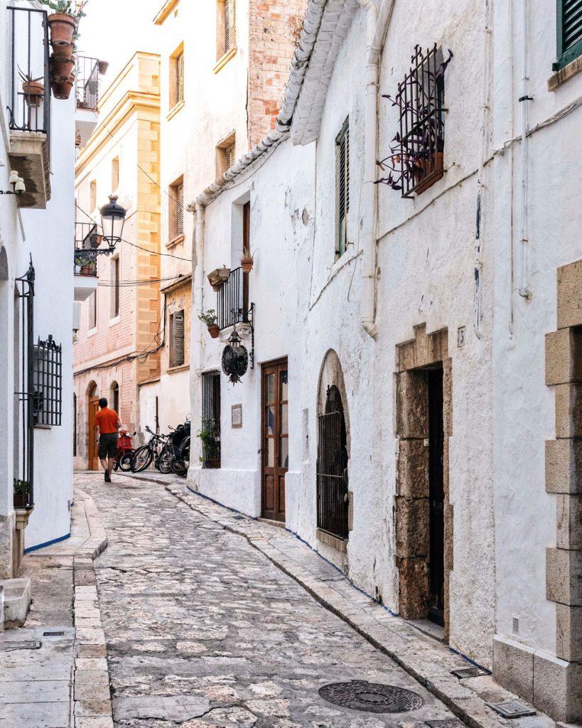 Sitges centro storico stradine