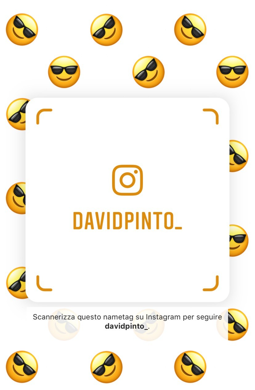 Nametag Instagram David Pinto