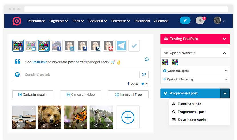 Postpickr tool italiano per pianificare le pubblicazioni su instagram