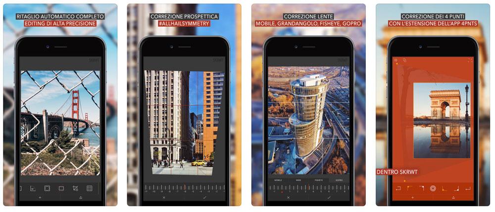 SKRWT App per raddrizzare foto su smartphone