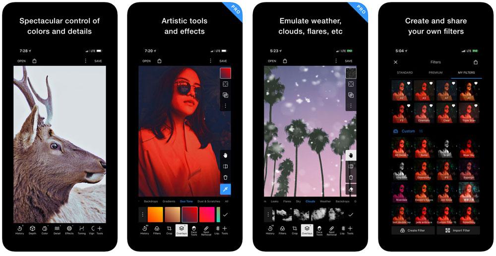 Polarr app completa per modificare foto su smartphone