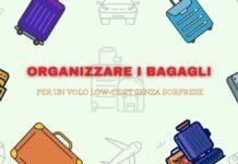 come organizzare i bagagli